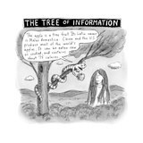 The Tree of Information -- the Serpent gives Eve the nutrition facts on an... - New Yorker Cartoon Premium Giclee Print by Roz Chast