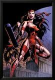 Herc No.8: Elektra Posing in an Alleyway Posters by June Brigman
