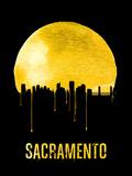 Sacramento Skyline Yellow Plastic Sign by  NaxArt