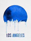 Los Angeles Skyline Blue Plastic Sign by  NaxArt