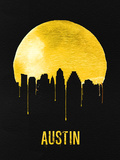 Austin Skyline Yellow Plastic Sign by  NaxArt
