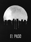 El Paso Skyline Black Plastic Sign by  NaxArt