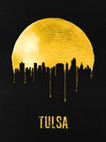 Tulsa Skyline Yellow Plastic Sign by  NaxArt