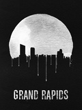 Grand Rapids Skyline Black Plastic Sign by  NaxArt