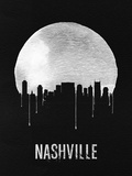 Nashville Skyline Black Plastic Sign by  NaxArt