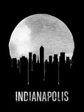 Indianapolis Skyline Black Plastic Sign by  NaxArt