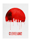 Cleveland Skyline Red Posters by  NaxArt