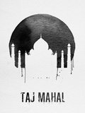 Taj Mahal Landmark White Plastic Sign by  NaxArt