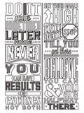 Motivational Set White Plastic Sign by  Vintage Vector Studio