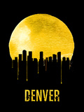 Denver Skyline Yellow Plastic Sign by  NaxArt