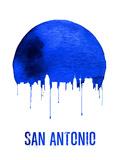 San Antonio Skyline Blue Plastic Sign by  NaxArt