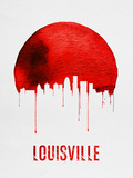 Louisville Skyline Red Plastic Sign by  NaxArt
