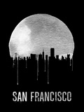 San Francisco Skyline Black Plastic Sign by  NaxArt