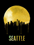 Seattle Skyline Yellow Plastic Sign by  NaxArt