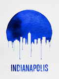 Indianapolis Skyline Blue Plastic Sign by  NaxArt