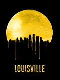 Louisville Skyline Yellow Plastic Sign by  NaxArt