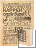 Opportunity Set White Wood Print by  Vintage Vector Studio