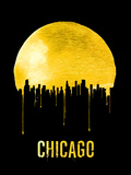 Chicago Skyline Yellow Plastic Sign by  NaxArt