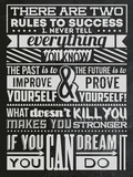 Success Set Black Plastic Sign by  Vintage Vector Studio