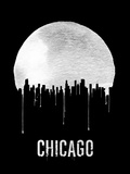 Chicago Skyline Black Plastic Sign by  NaxArt