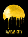 Kansas City Skyline Yellow Plastic Sign by  NaxArt
