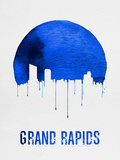 Grand Rapids Skyline Blue Plastic Sign by  NaxArt