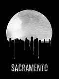 Sacramento Skyline Black Plastic Sign by  NaxArt