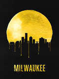 Milwaukee Skyline Yellow Plastic Sign by  NaxArt