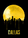 Dallas Skyline Yellow Plastic Sign by  NaxArt