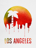 Los Angeles Landmark Red Plastic Sign by  NaxArt