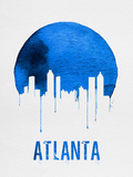 Atlanta Skyline Blue Plastic Sign by  NaxArt