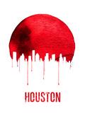 Houston Skyline Red Plastic Sign by  NaxArt