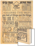 Change Set Black Wood Print by  Vintage Vector Studio