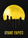 Grand Rapids Skyline Yellow Plastic Sign by  NaxArt