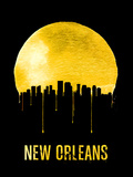 New Orleans Skyline Yellow Plastic Sign by  NaxArt