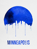 Minneapolis Skyline Blue Plastic Sign by  NaxArt