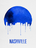 Nashville Skyline Blue Plastic Sign by  NaxArt