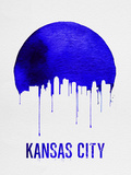 Kansas City Skyline Blue Plastic Sign by  NaxArt