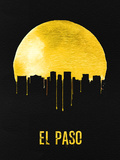 El Paso Skyline Yellow Plastic Sign by  NaxArt