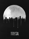 Tulsa Skyline Black Plastic Sign by  NaxArt