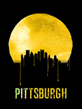 Pittsburgh Skyline Yellow Plastic Sign by  NaxArt