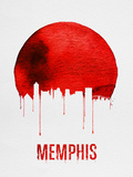Memphis Skyline Red Plastic Sign by  NaxArt