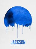 Jackson Skyline Blue Plastic Sign by  NaxArt