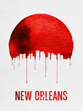 New Orleans Skyline Red Plastic Sign by  NaxArt