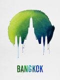 Bangkok Landmark Blue Plastic Sign by  NaxArt