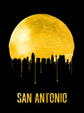 San Antonio Skyline Yellow Plastic Sign by  NaxArt