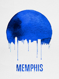 Memphis Skyline Blue Plastic Sign by  NaxArt