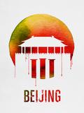 Beijing Landmark Red Plastic Sign by  NaxArt