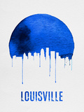 Louisville Skyline Blue Plastic Sign by  NaxArt