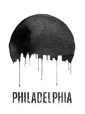 Philadelphia Skyline White Plastic Sign by  NaxArt